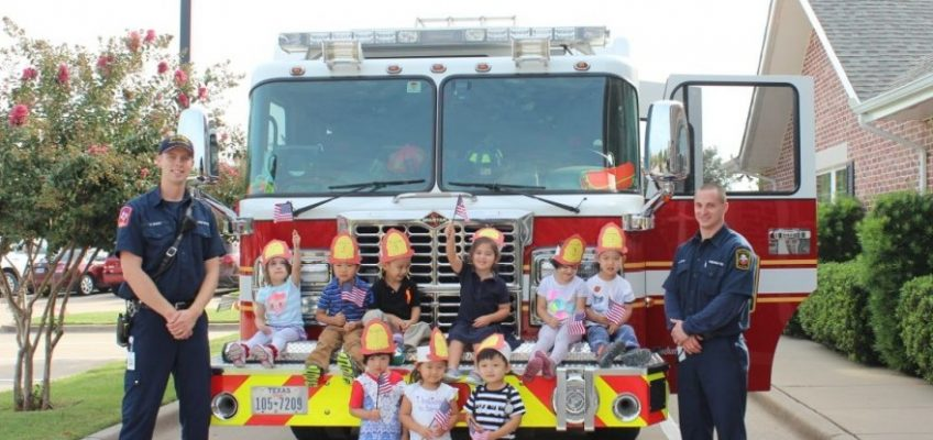 Plano Firefighters visit Canyon Creek Day School